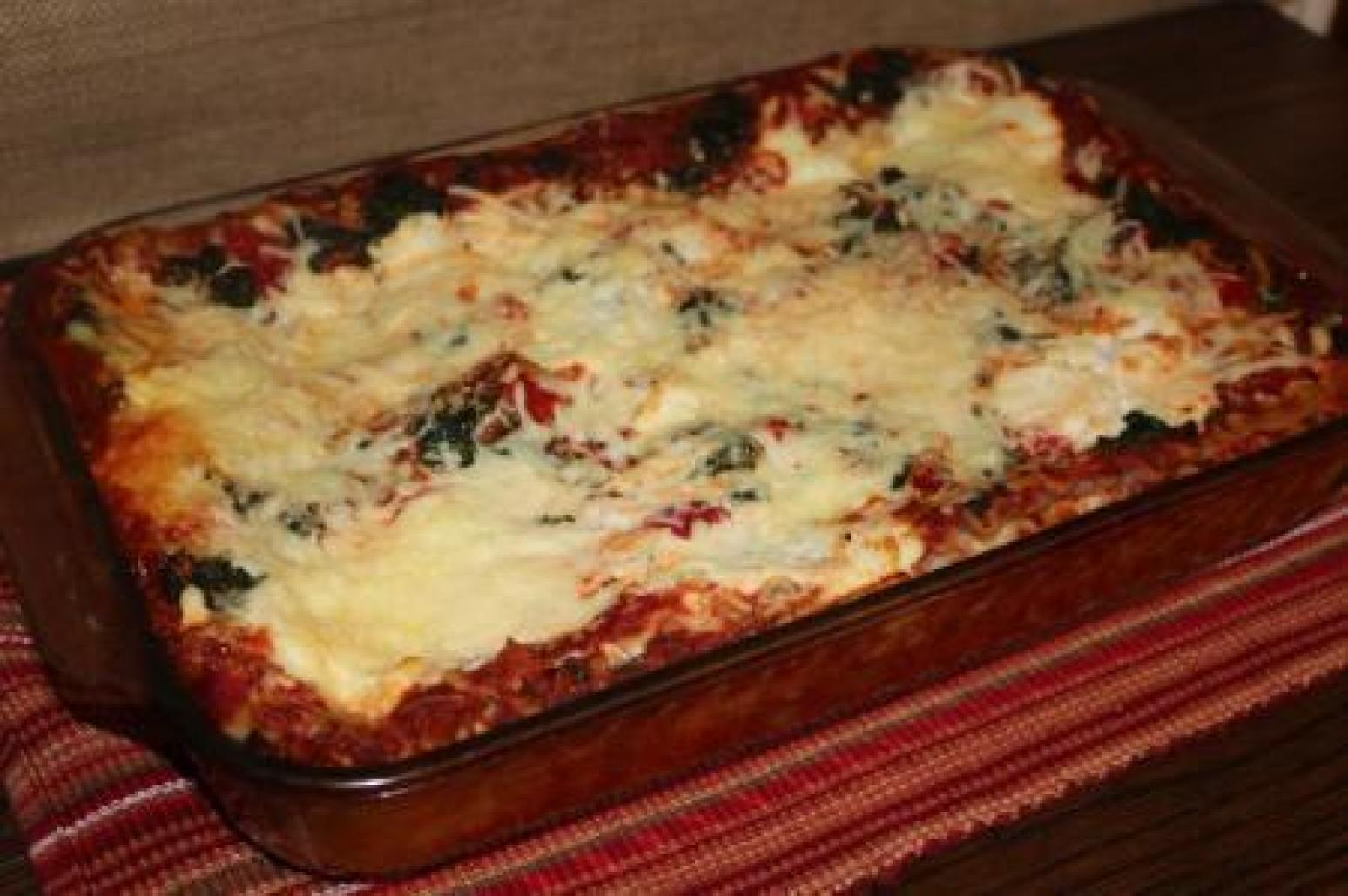 Roasted Red Pepper & Spinach Lasagna