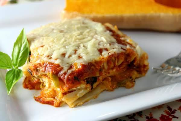 Roasted Butternut Squash Four Cheese Lasagna