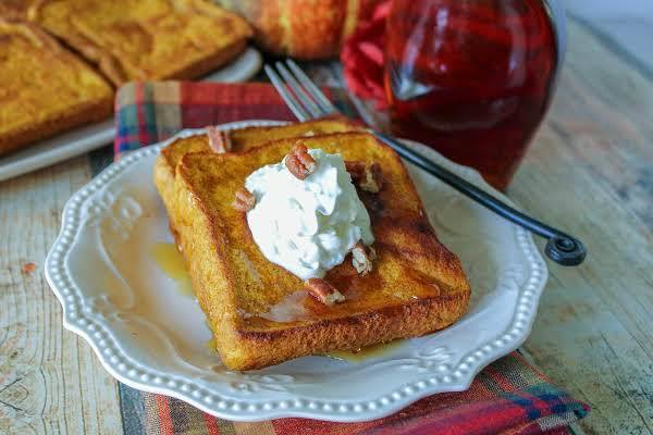 Baked Pumpkin Pie French Toast