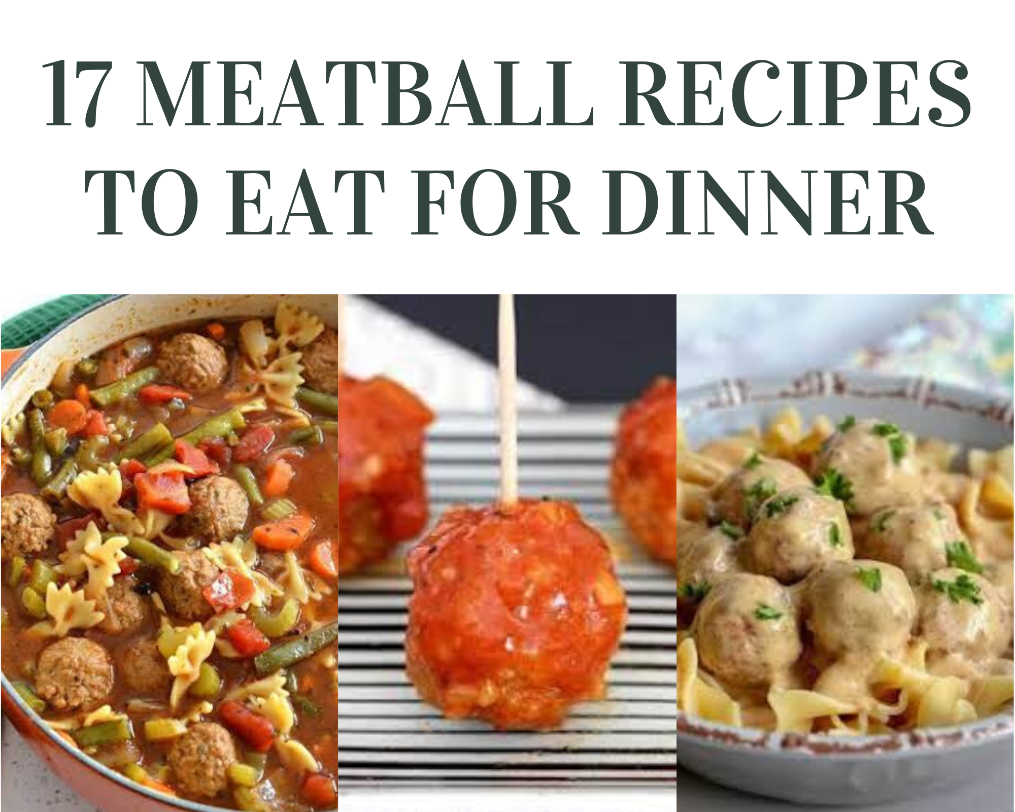 17 meatball recipes