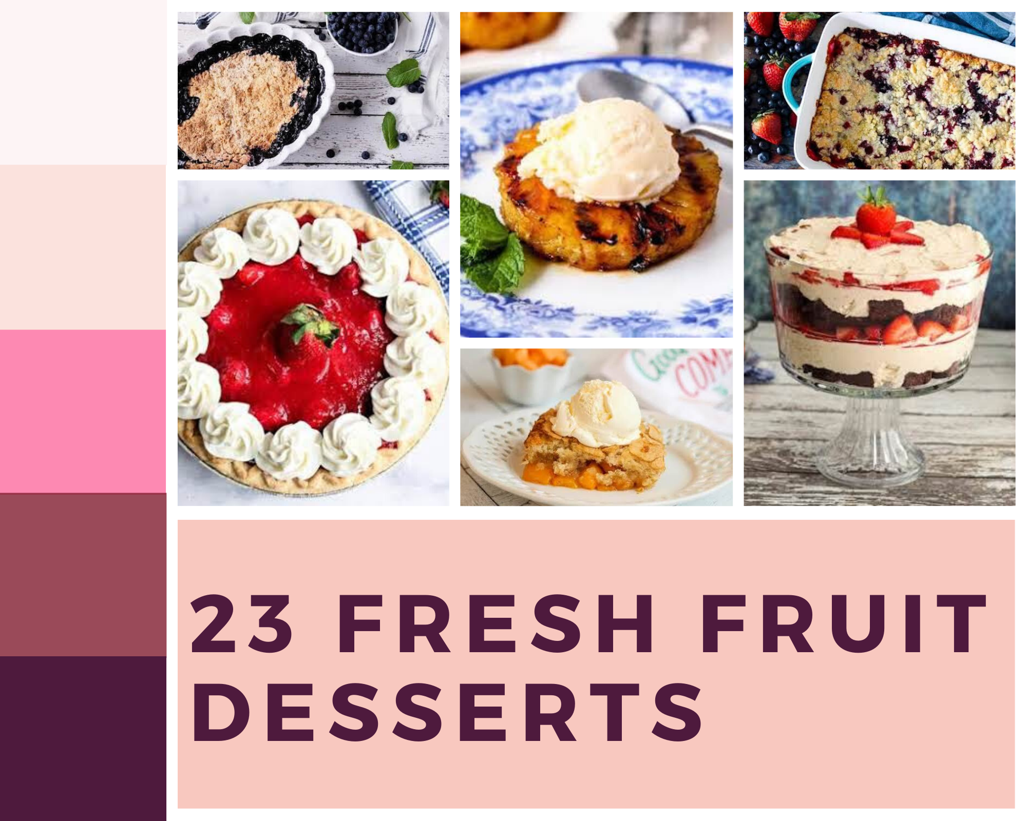 desserts made with fresh fruit