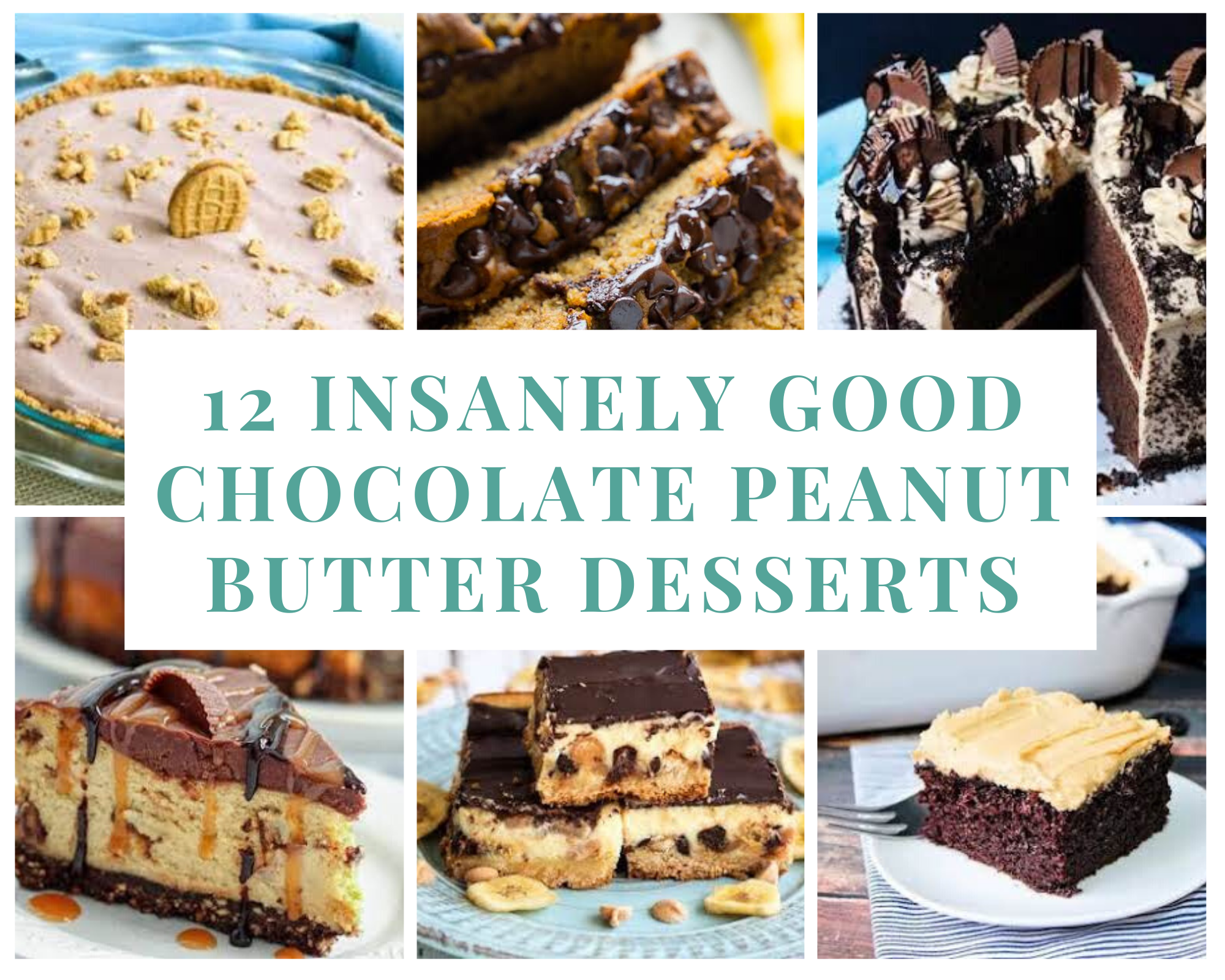 Peanut butter chocolate pies, cakes, breads and more