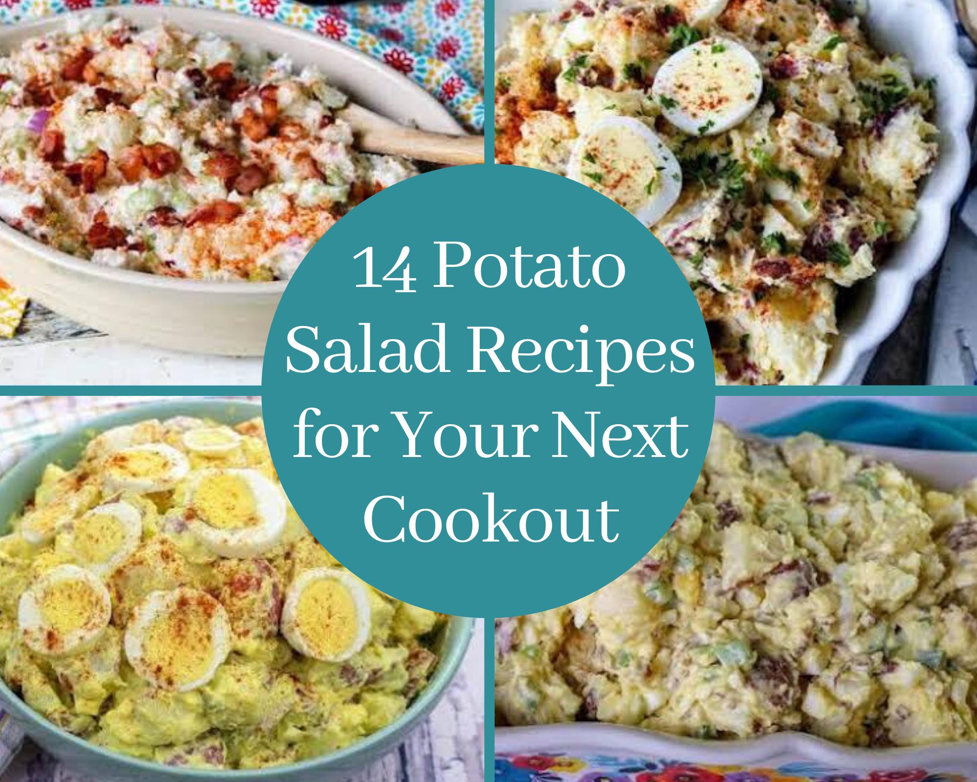 4 different homemade potato salad recipes