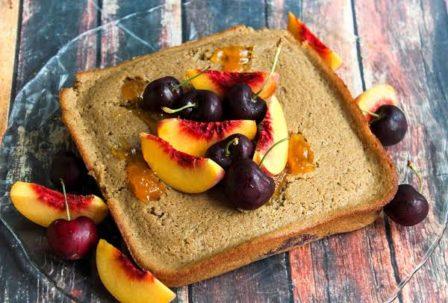 Peach Preserves and Tart Cherry Mash Potato Cake