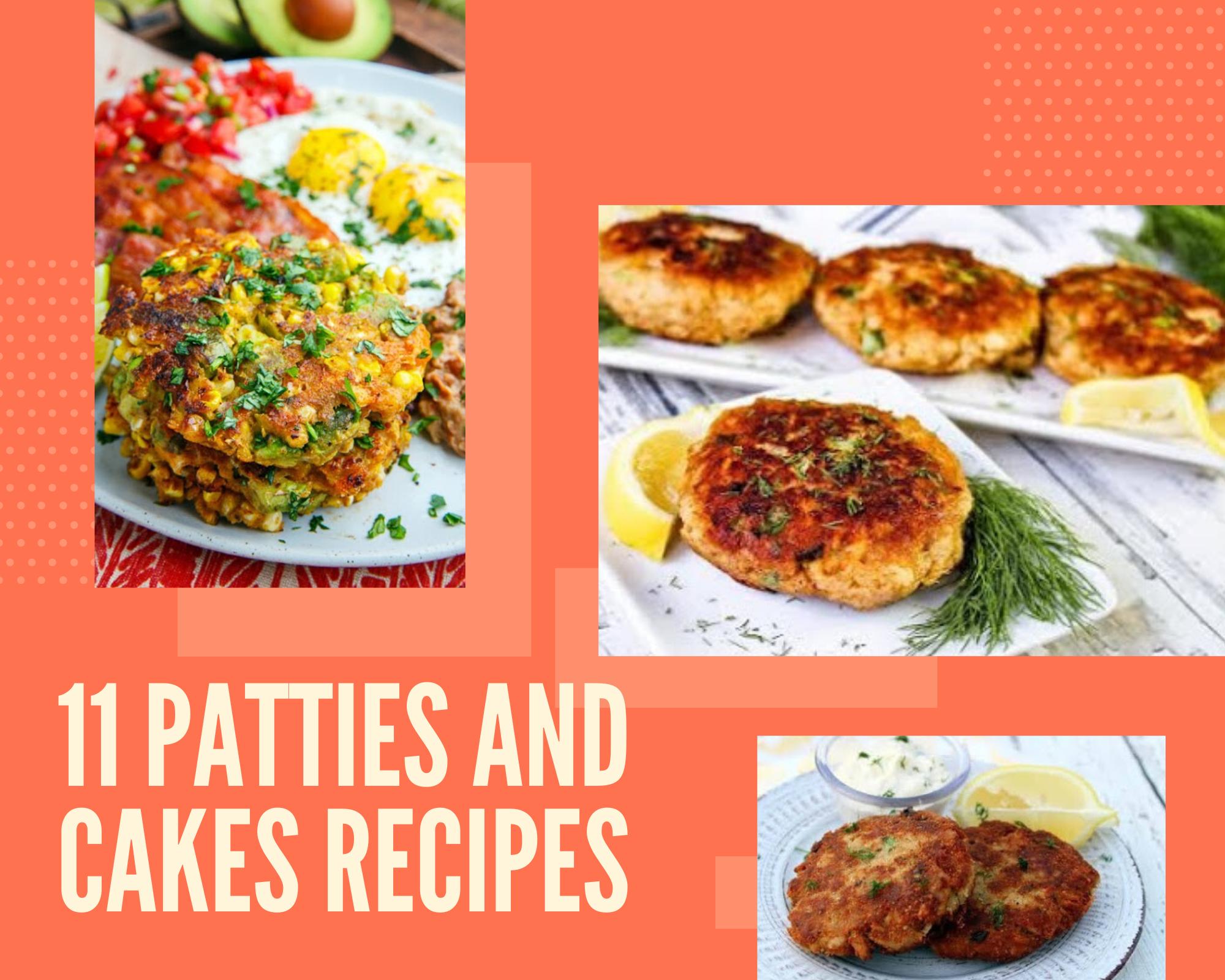 Tuna patties, salmon patties and corn cakes