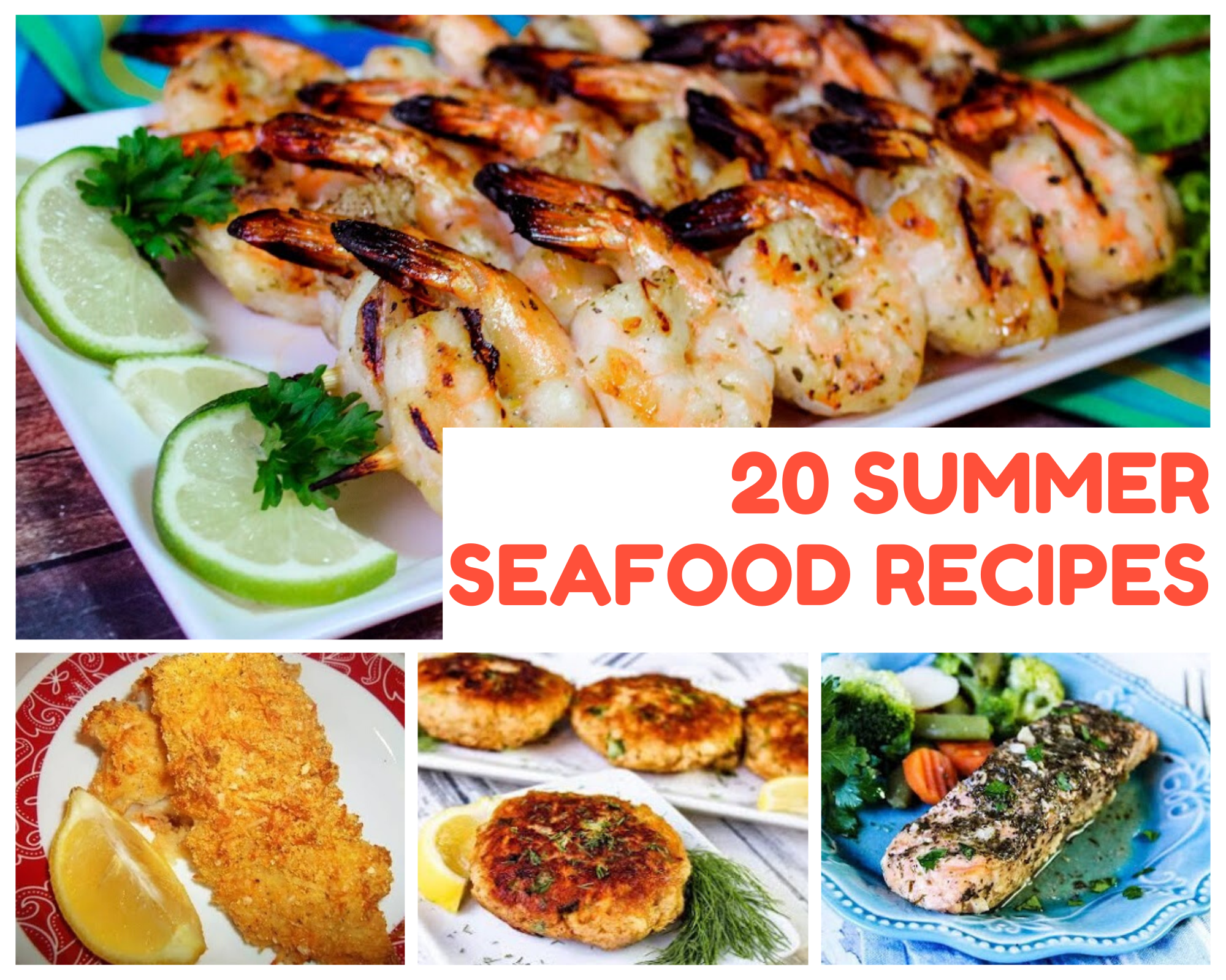 Grilled shrimp, baked cod, salmon patties and more summer seafood recipes