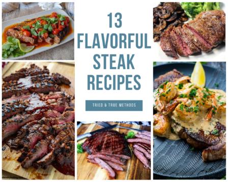 Grilled steak, flank steak, surf n turf recipes