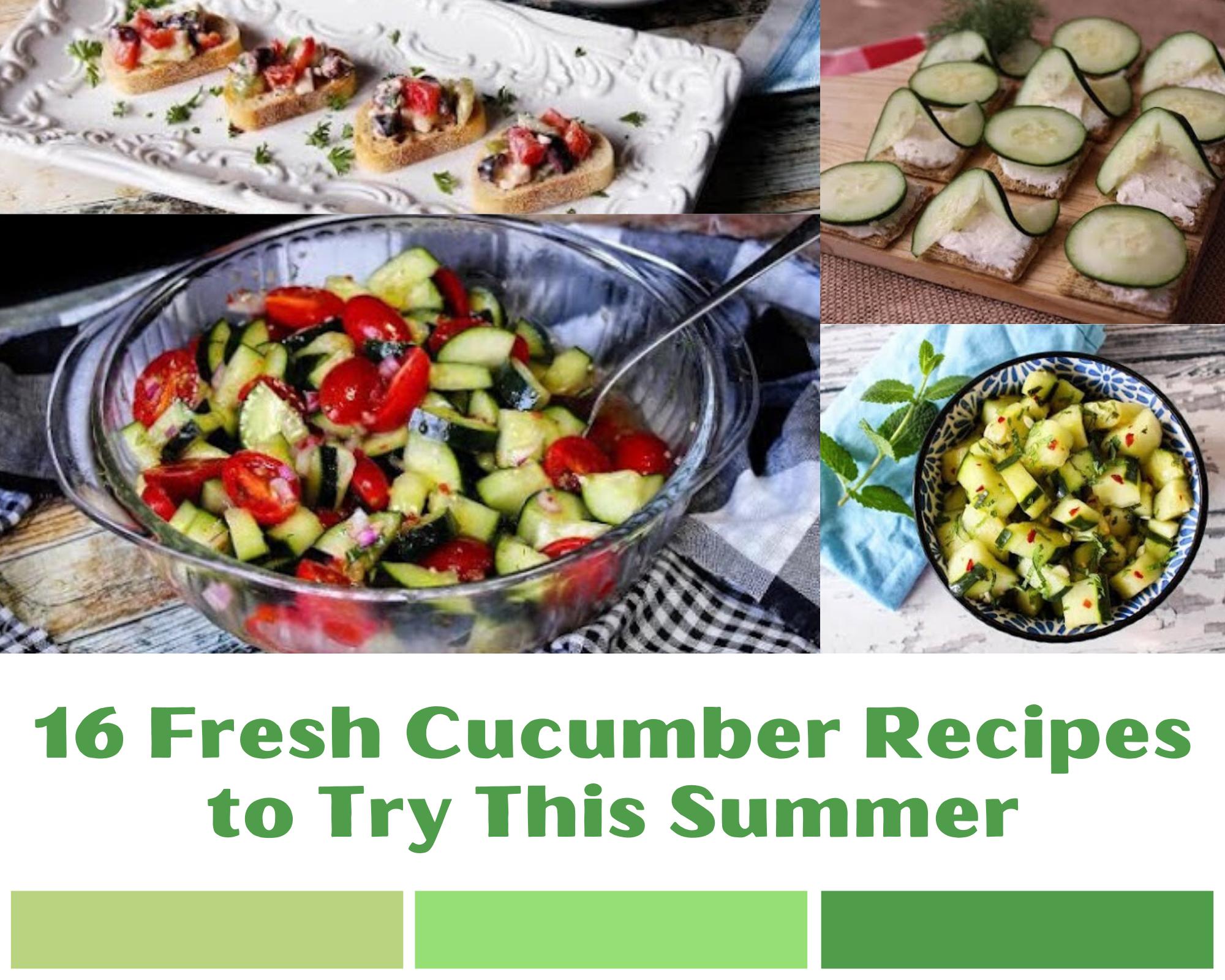 Cucumber salad, bruschetta and snack recipes