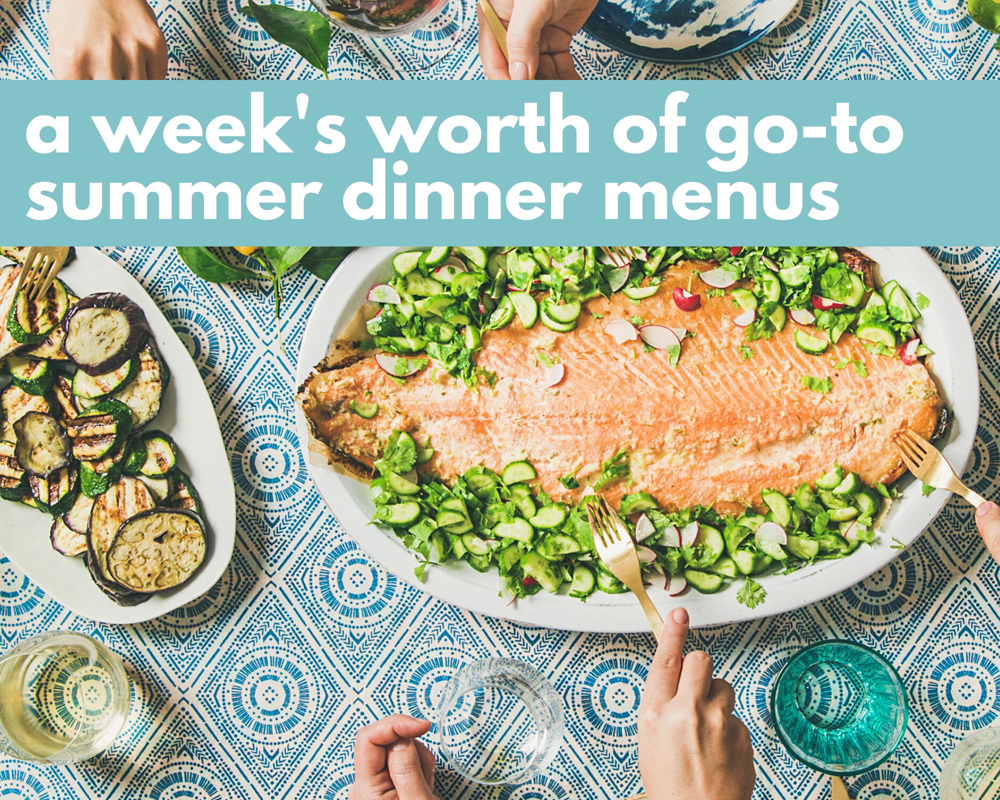 Salmon and zucchini summer dinner