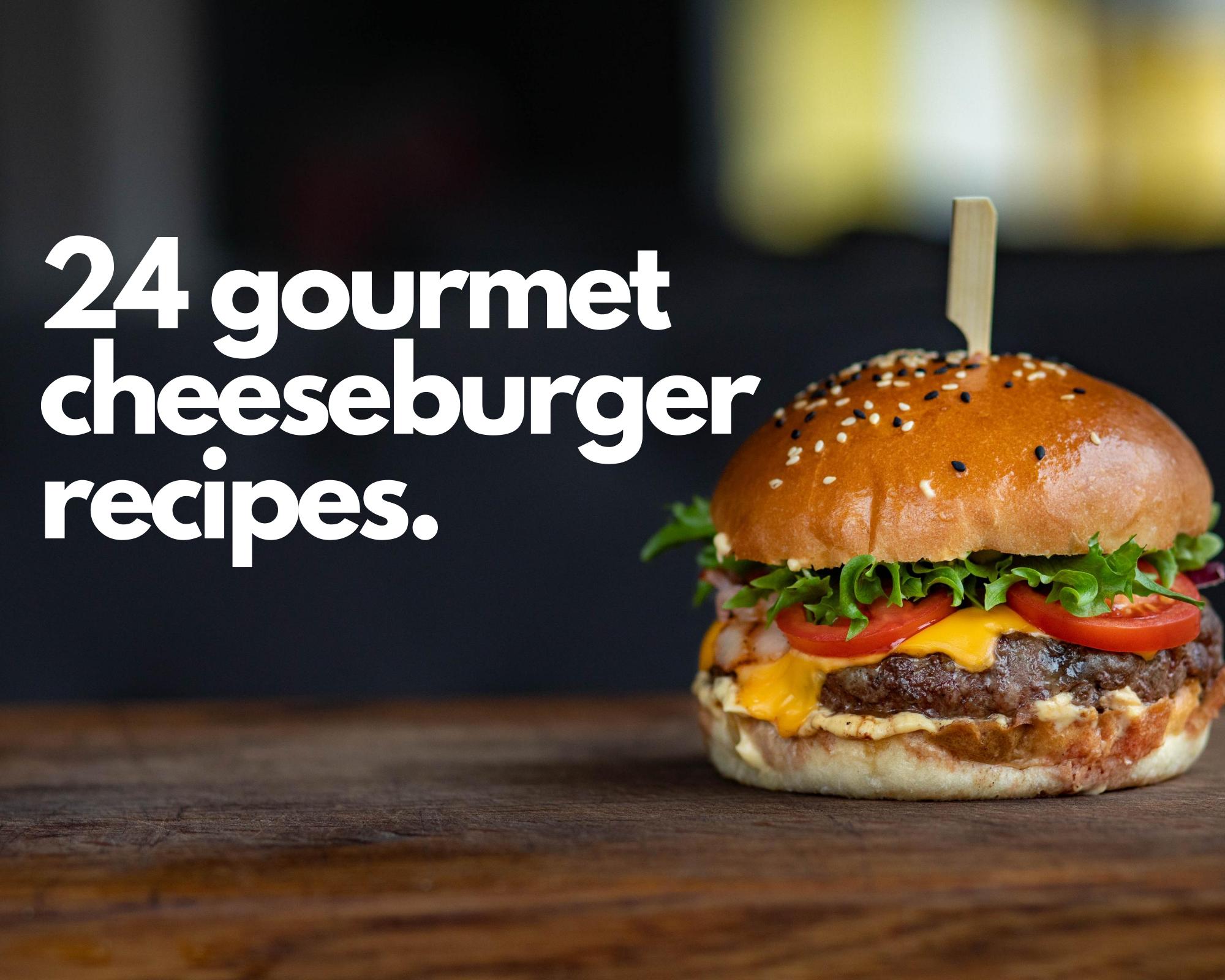 Gourmet cheeseburger on a table