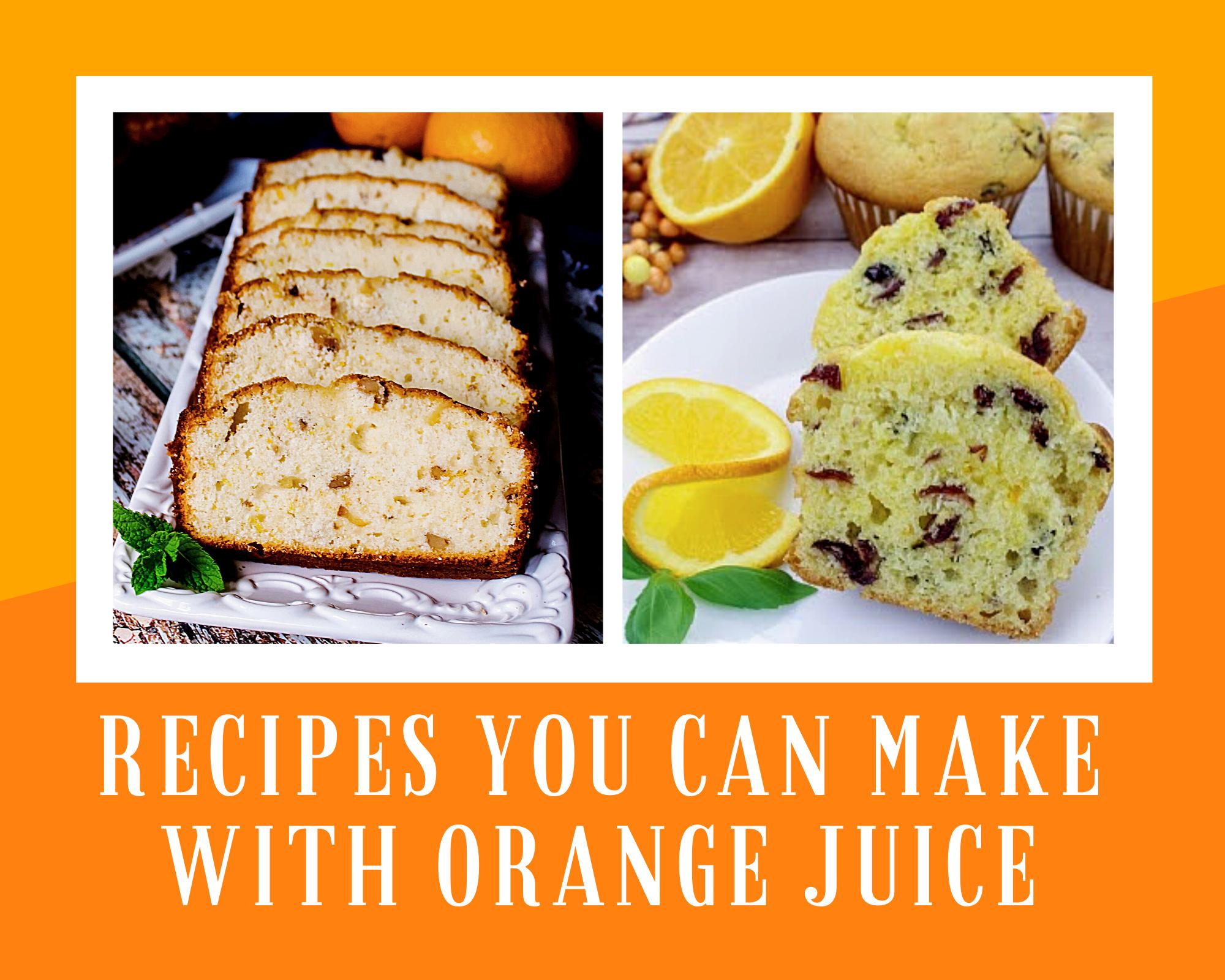 Orange bread and cranberry orange muffins