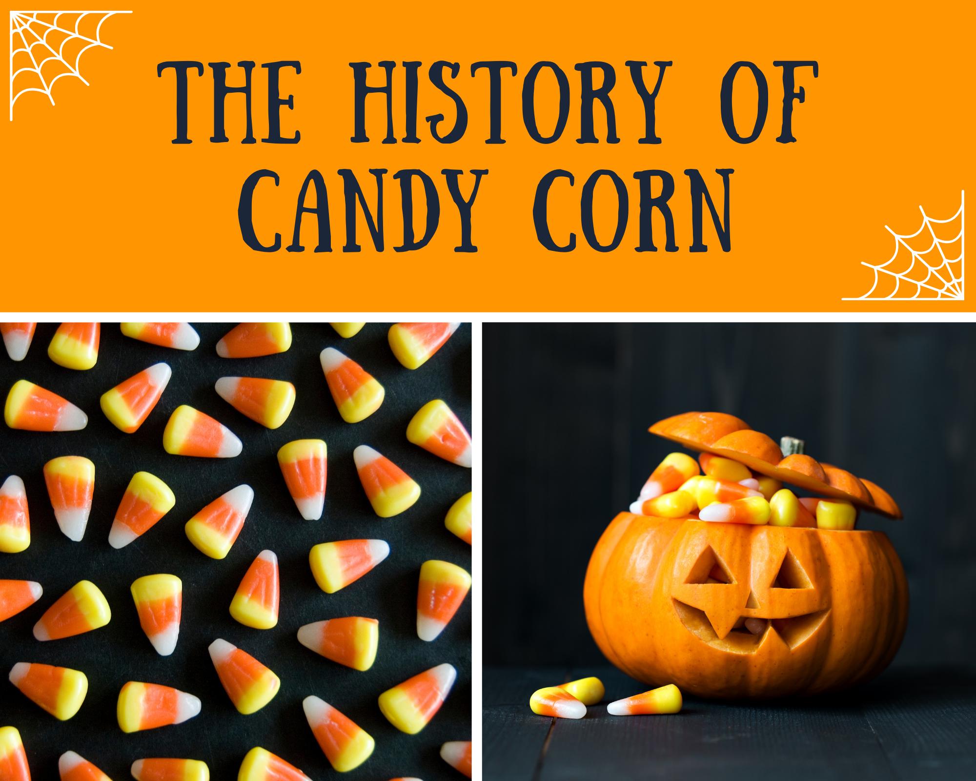 Candy corn in a pumpkin