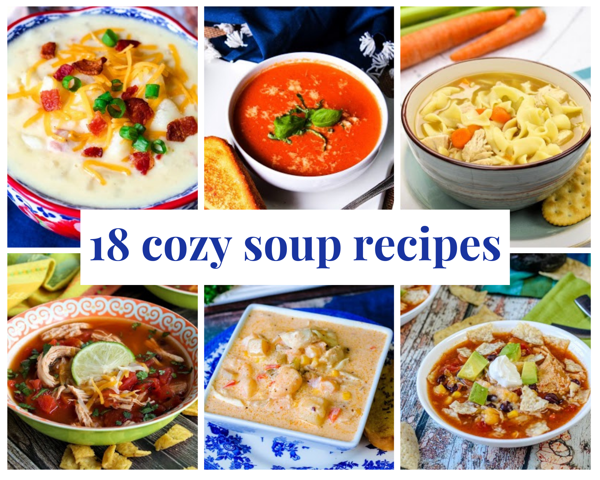 bowls of homemade soups