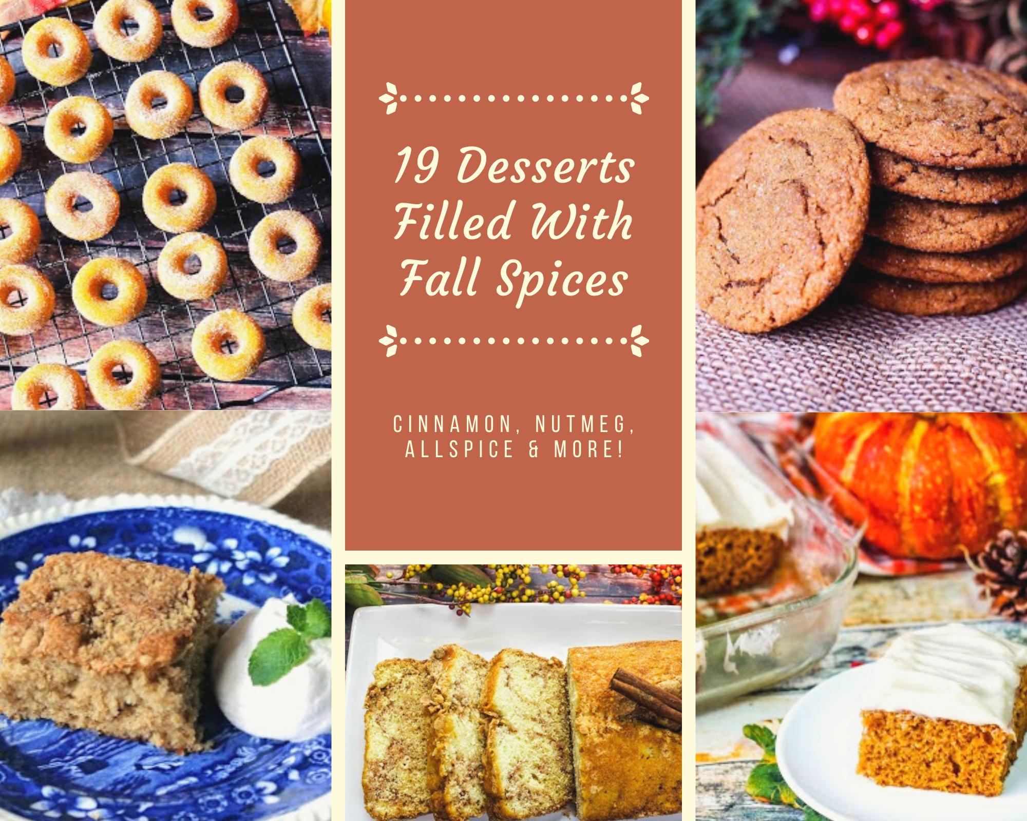 Pumpkin donuts, coffee cake, cinnamon bread, pumpkin cake and molasses cookies