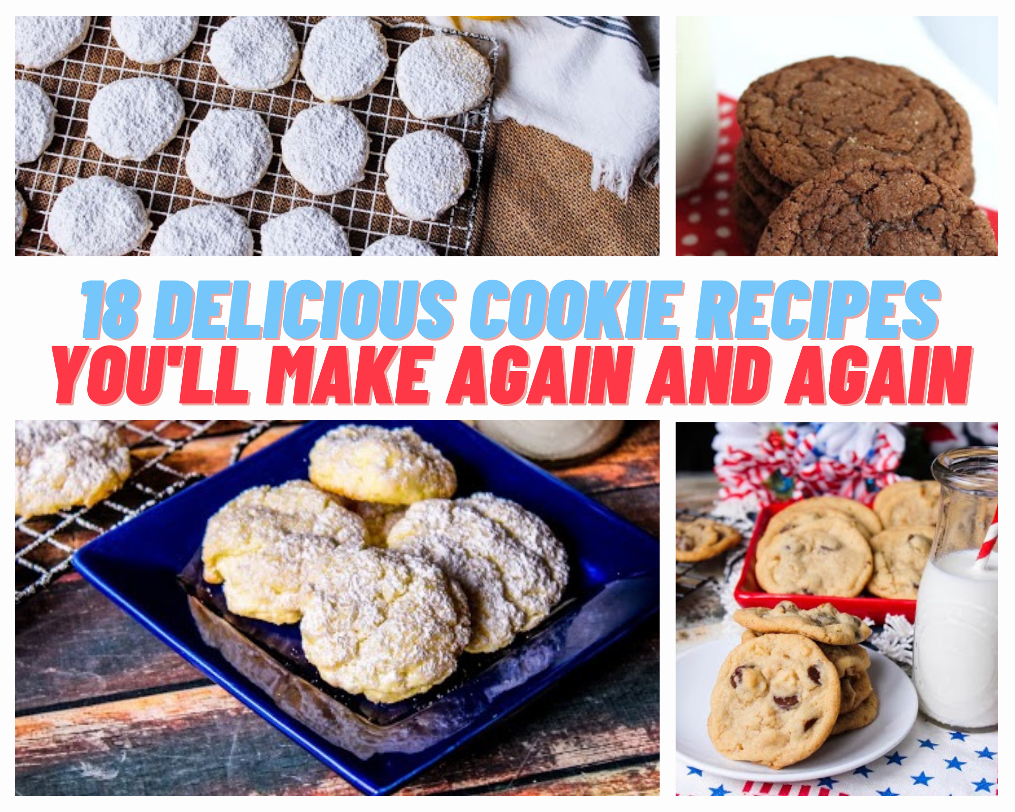 gooey butter cookies, chocolate chip cookies, molasses cookies and more