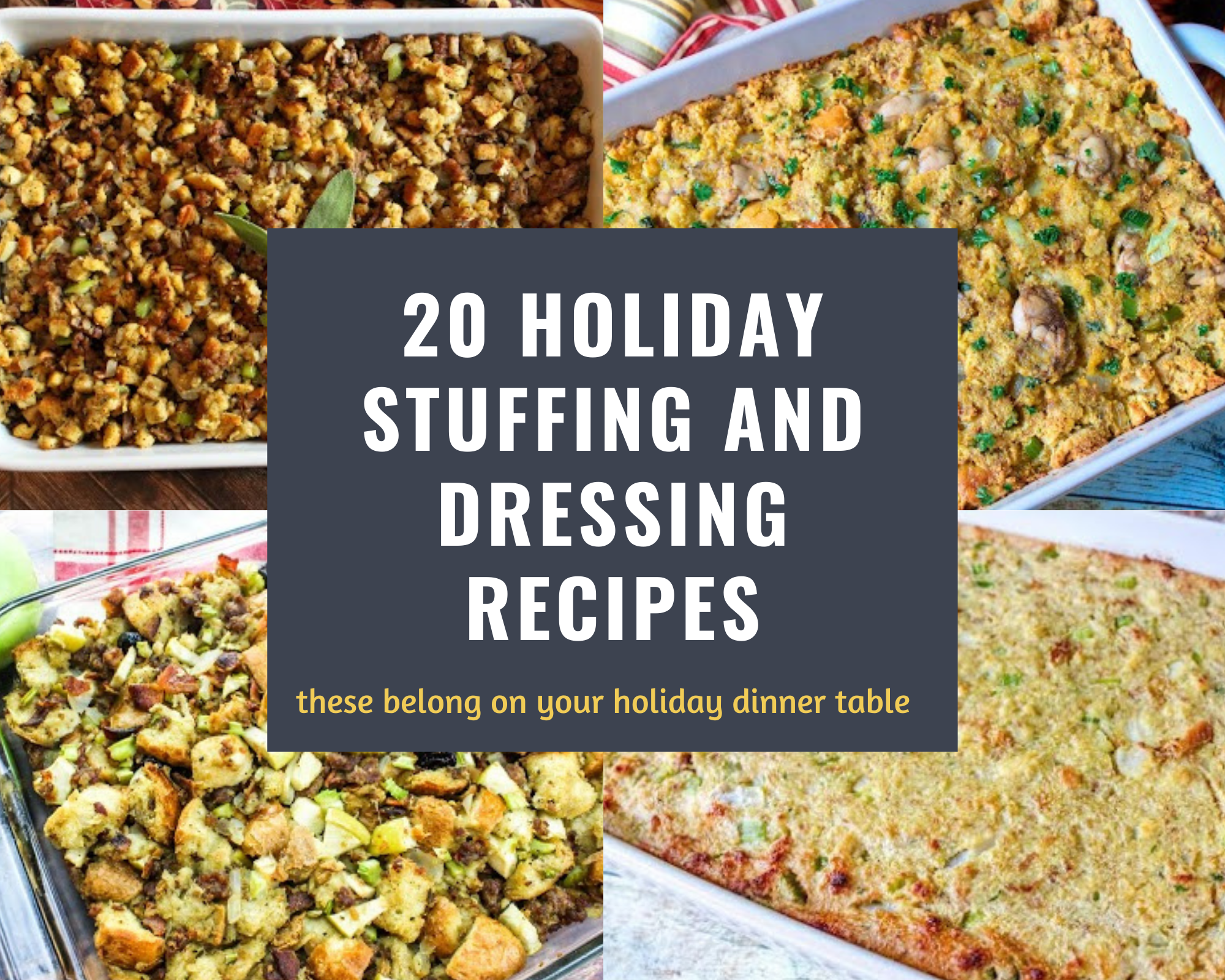 holiday stuffing and dressings