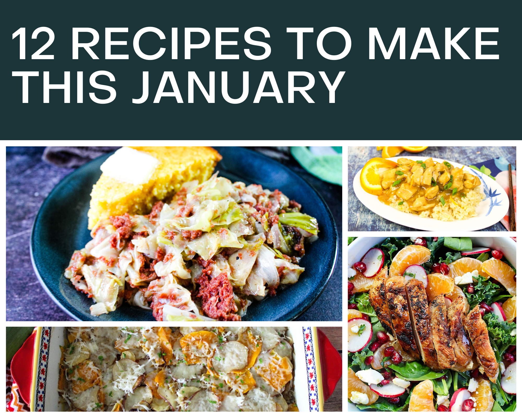 recipes to make with seasonal produce in January