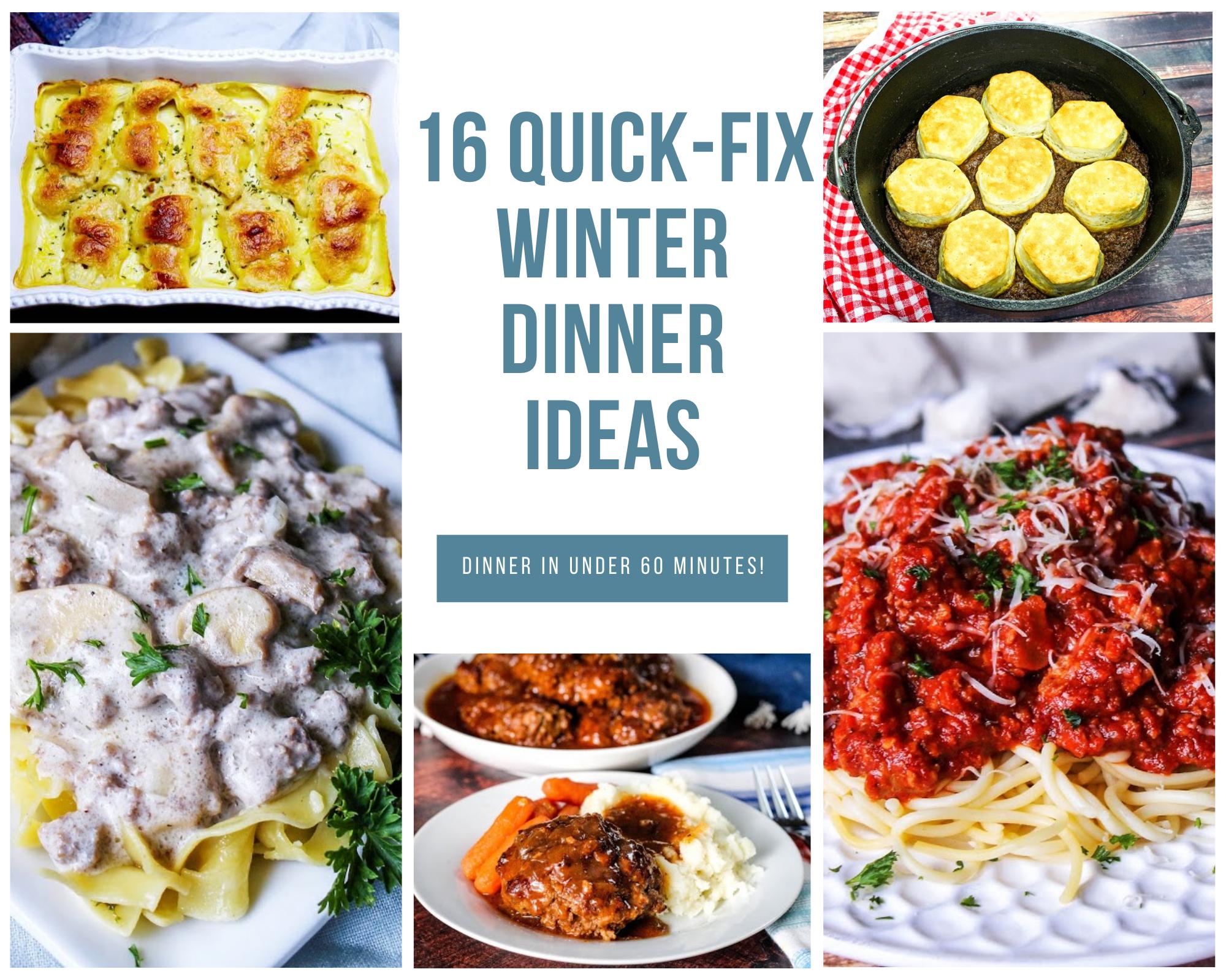 quick-fix dinner recipes