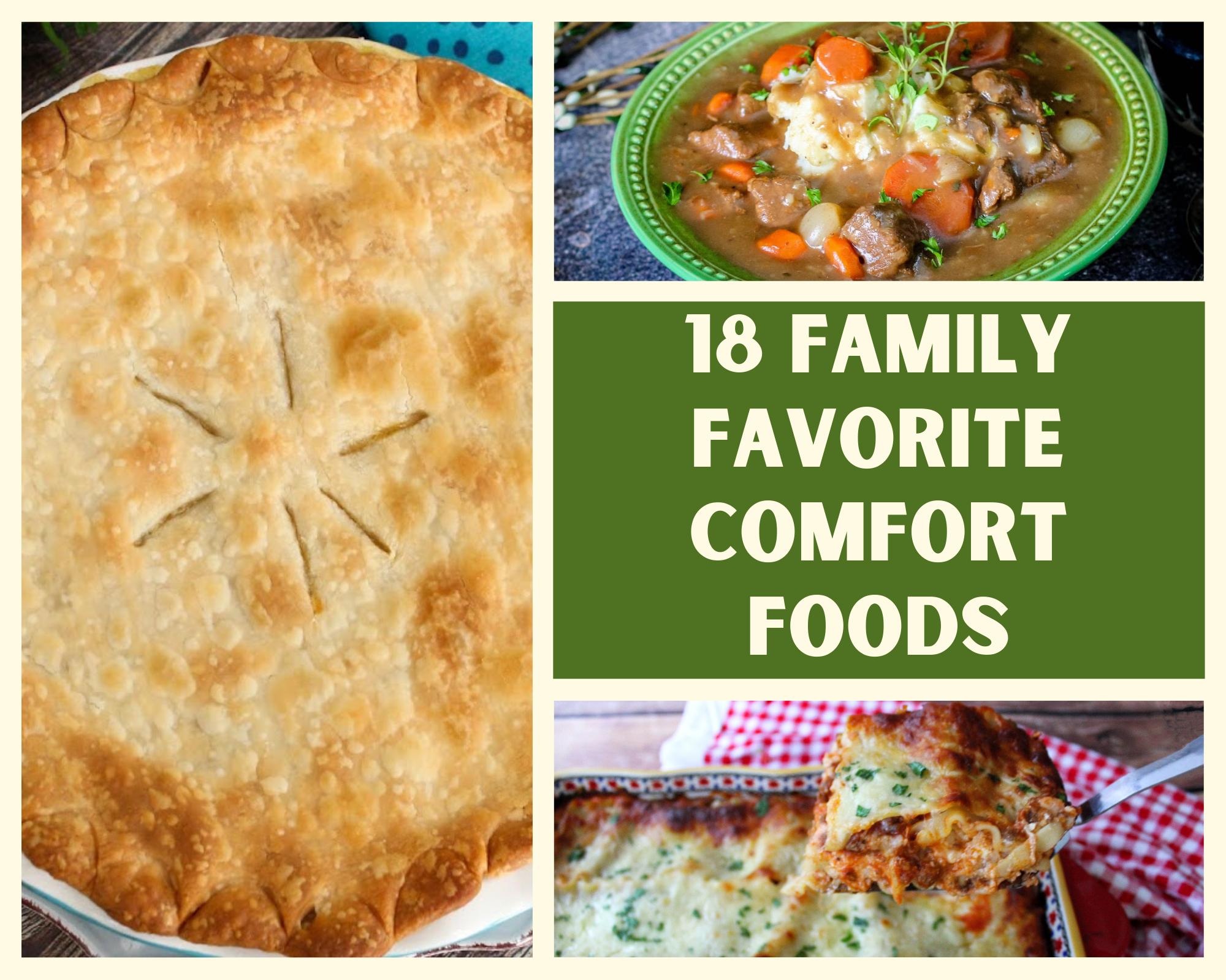 family favorite comfort foods