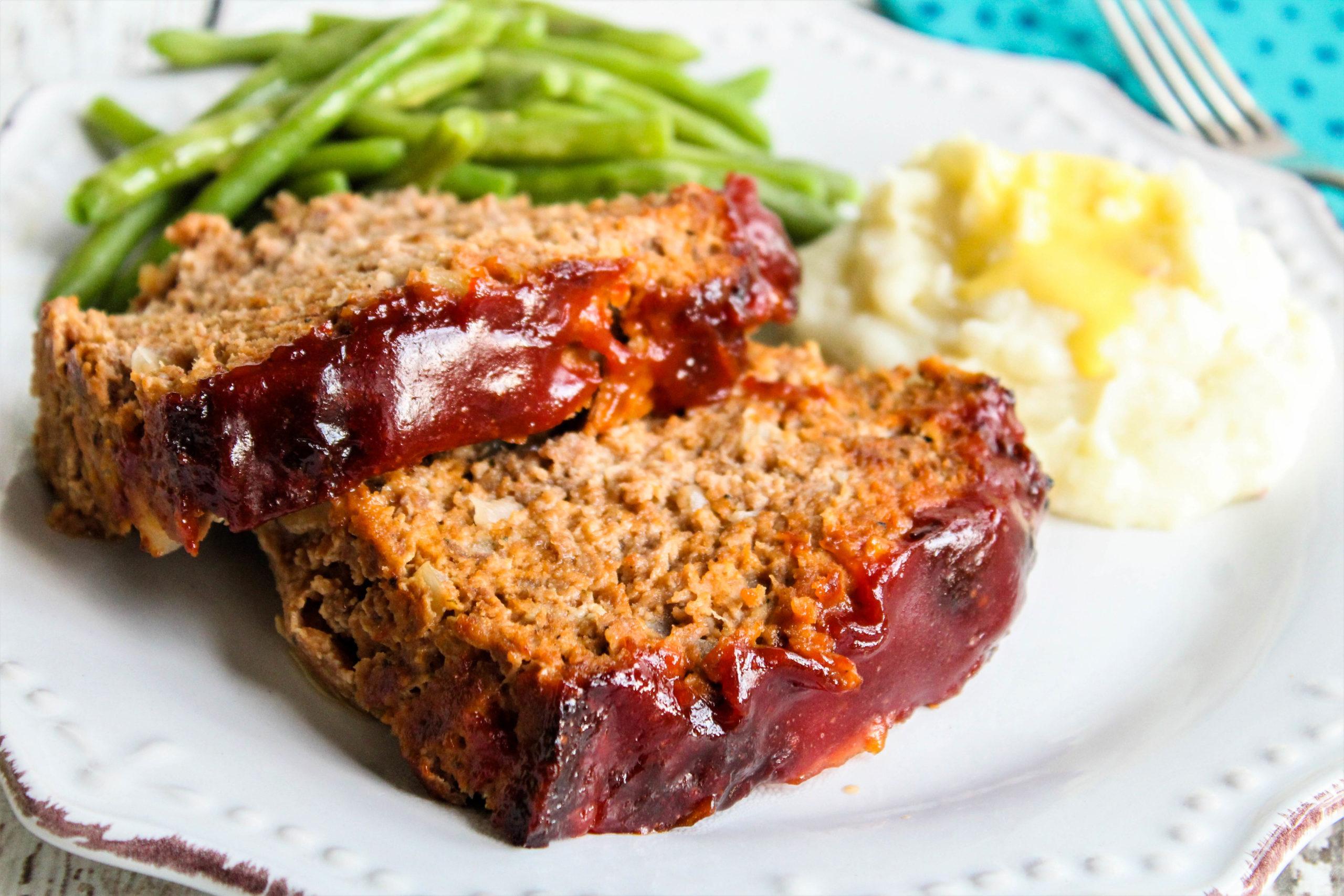 Brown Sugar Glazed Meatloaf comfort food
