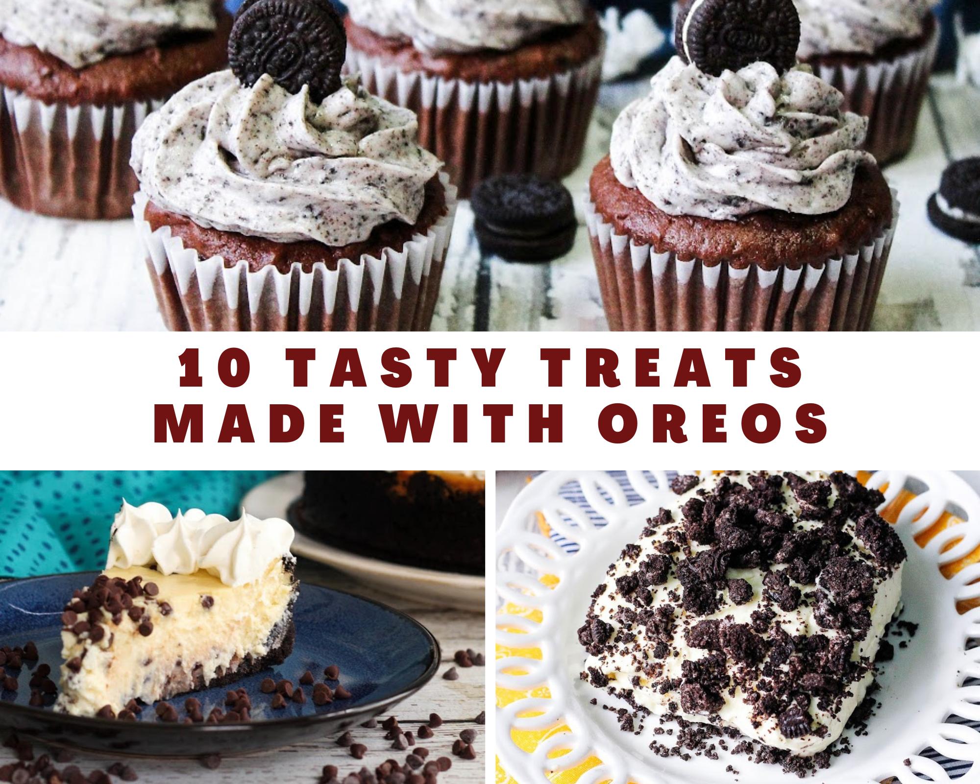 oreo cupcakes, oreo pie and oreo dirt pudding