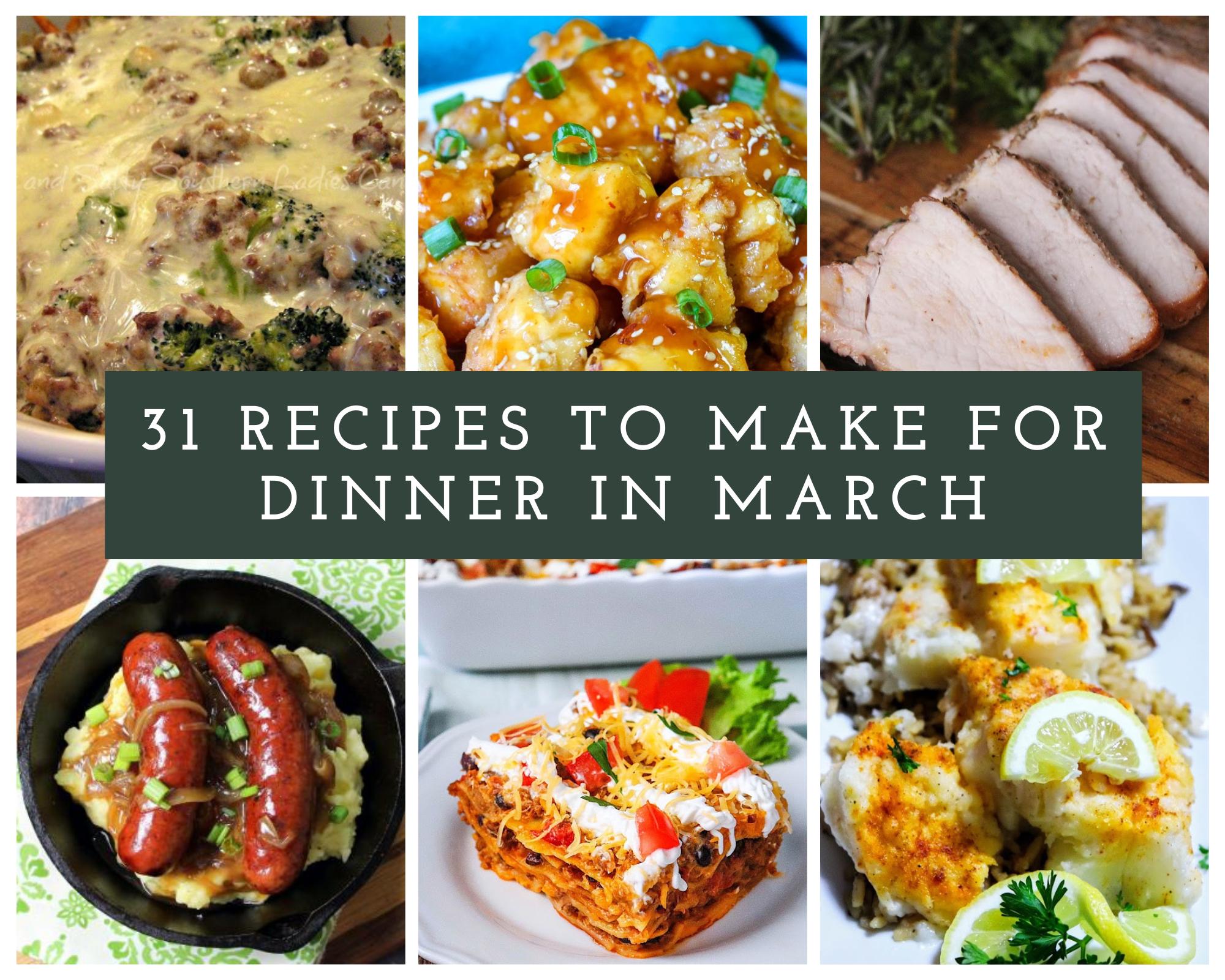 March dinner recipes