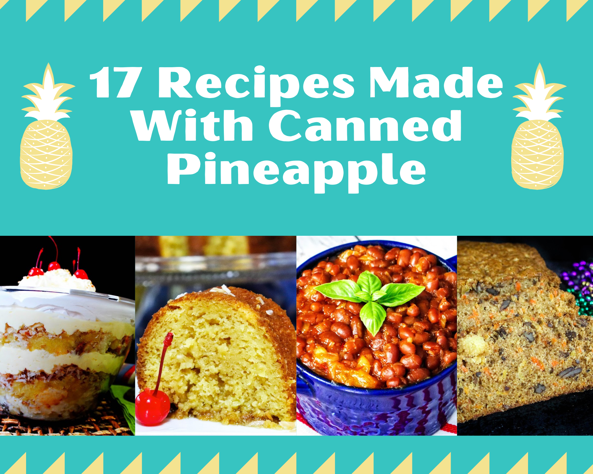 Recipes made with canned pineapple