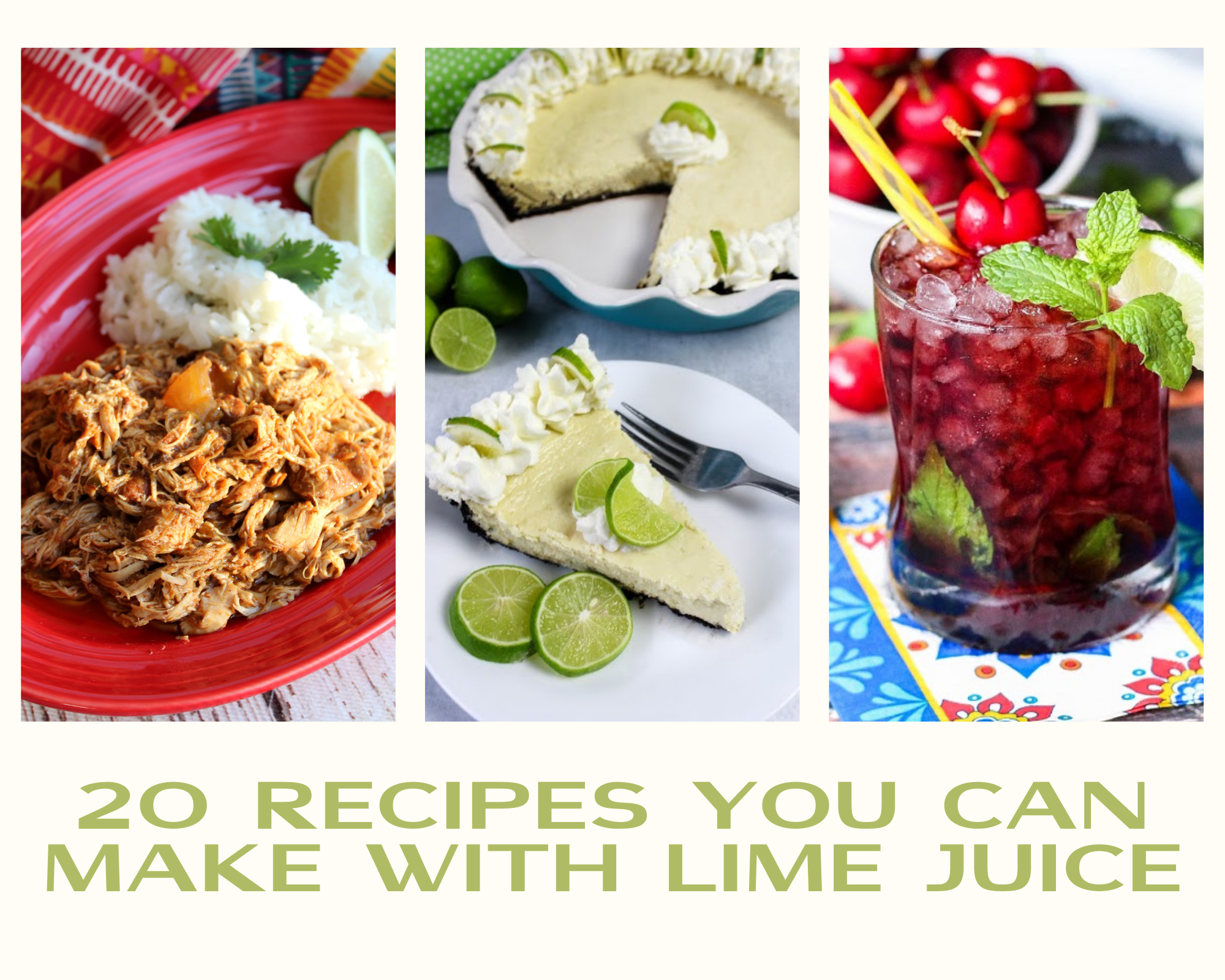 Recipes made with lime juice