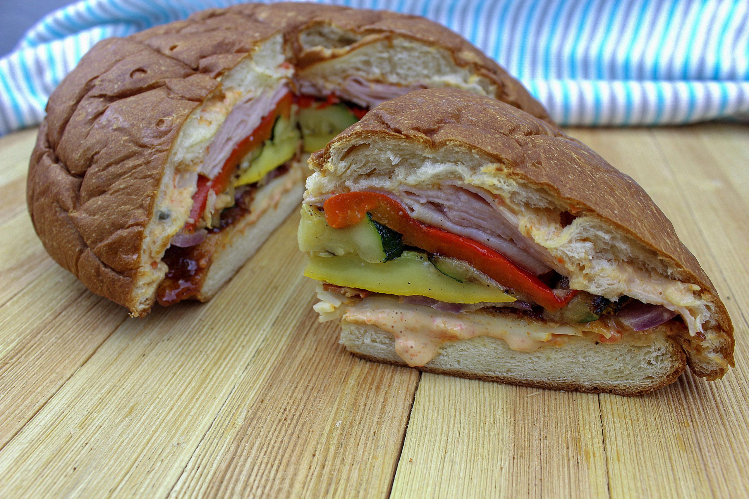 Summer Picnic Sandwich sliced