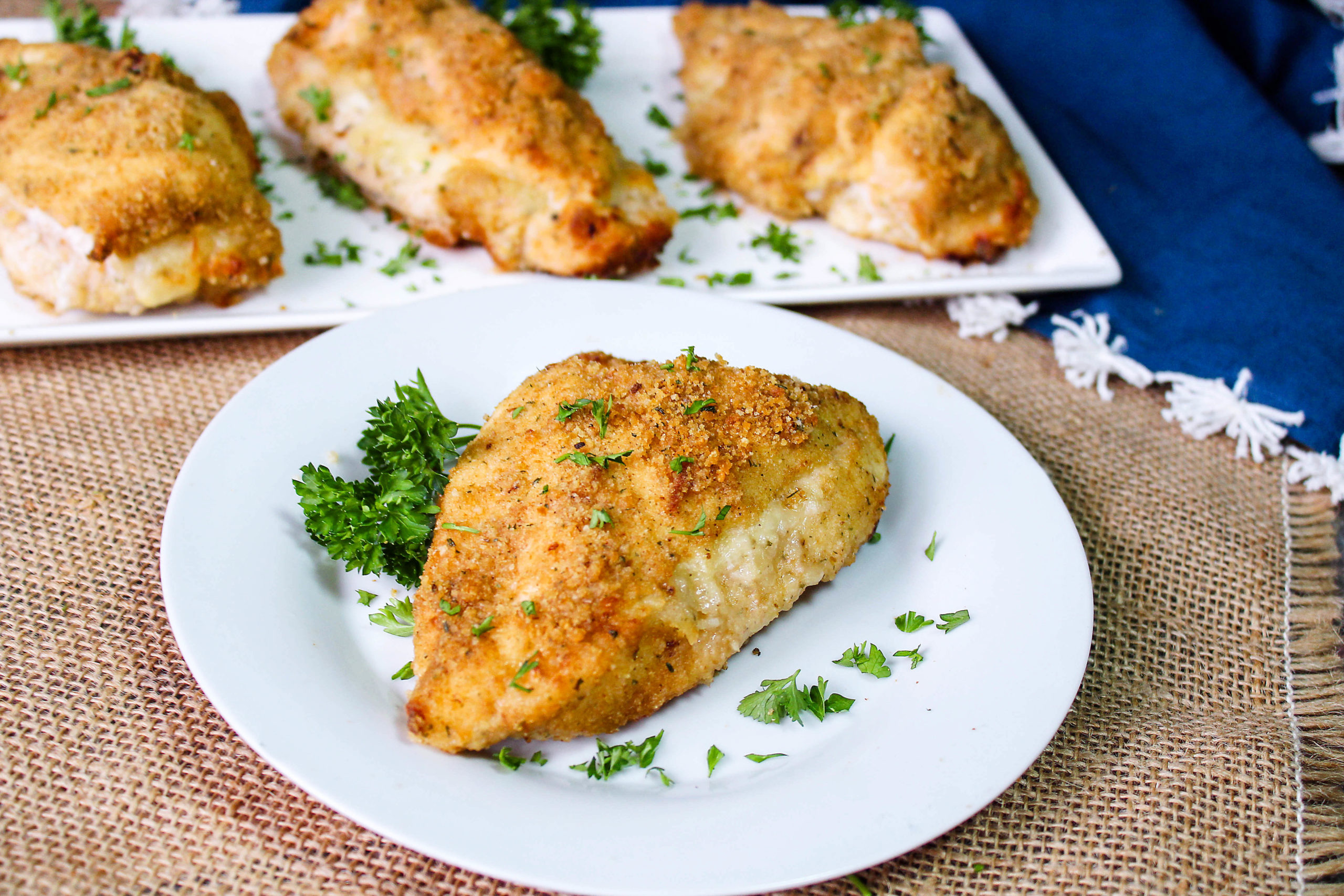 Cheesy Garlic Stuffed Chicken