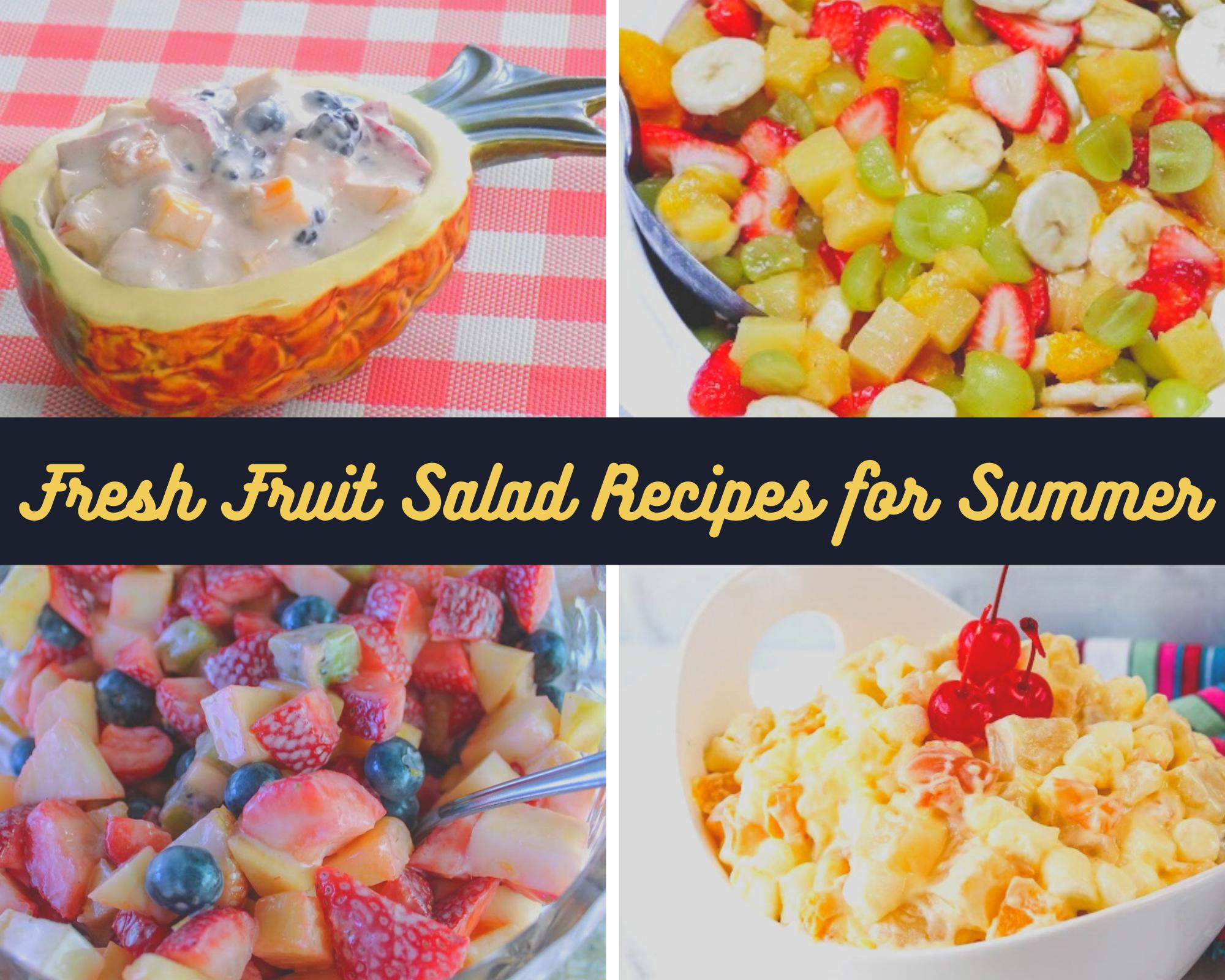 fruit salad recipes