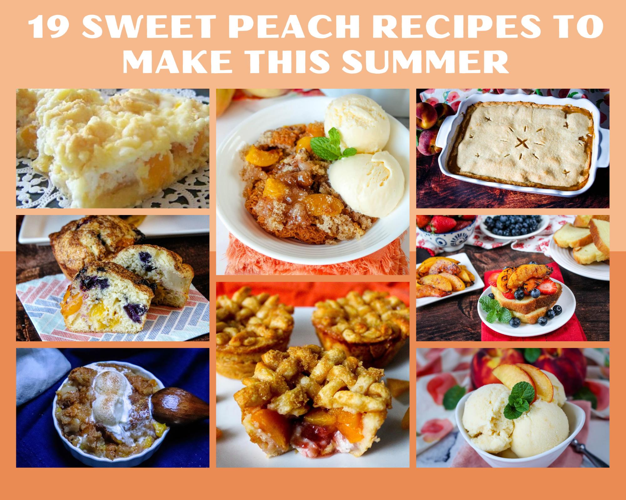 sweet peach recipes