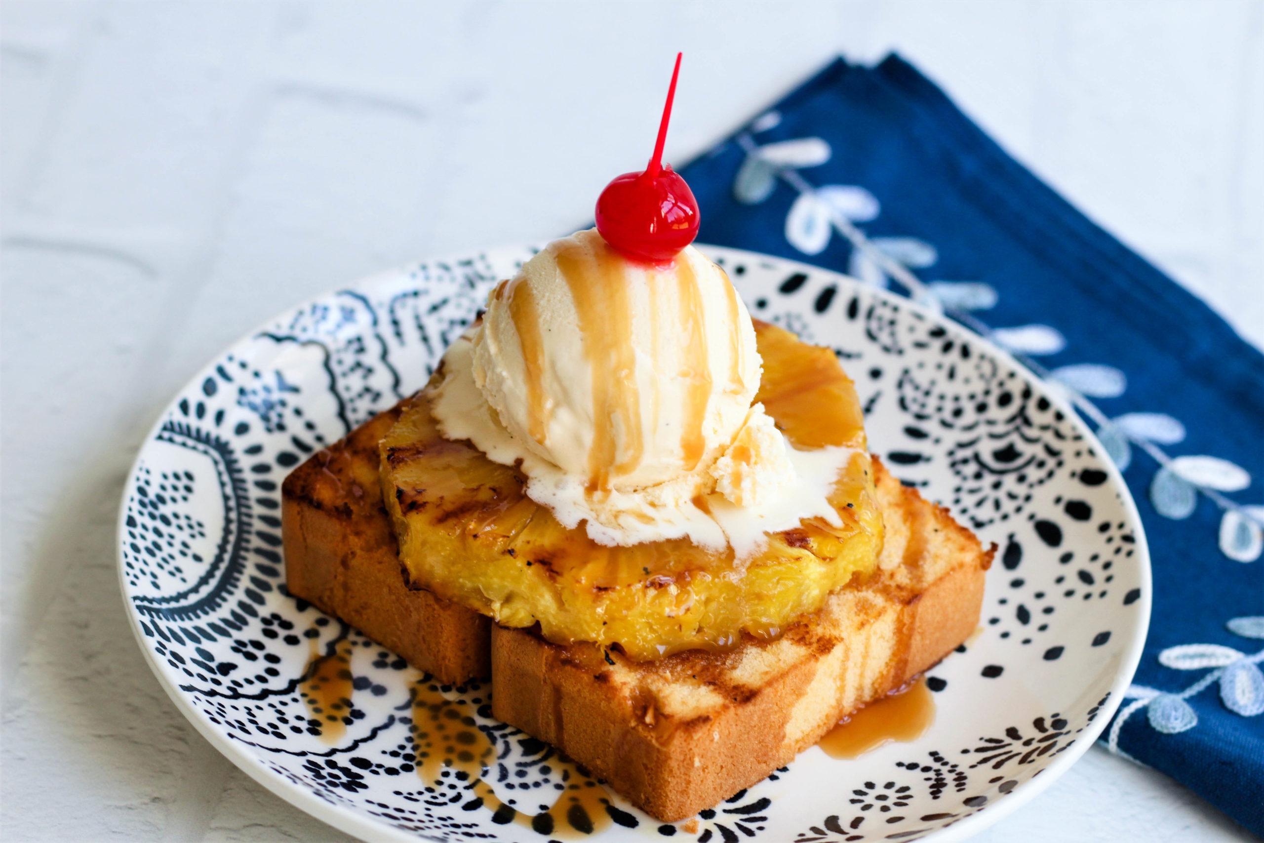 Slice of pineapple pound cake