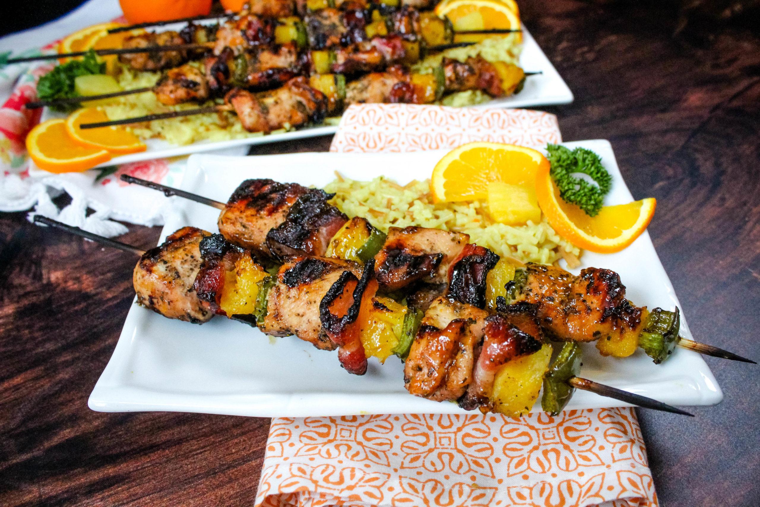Chicken Bacon Kabobs