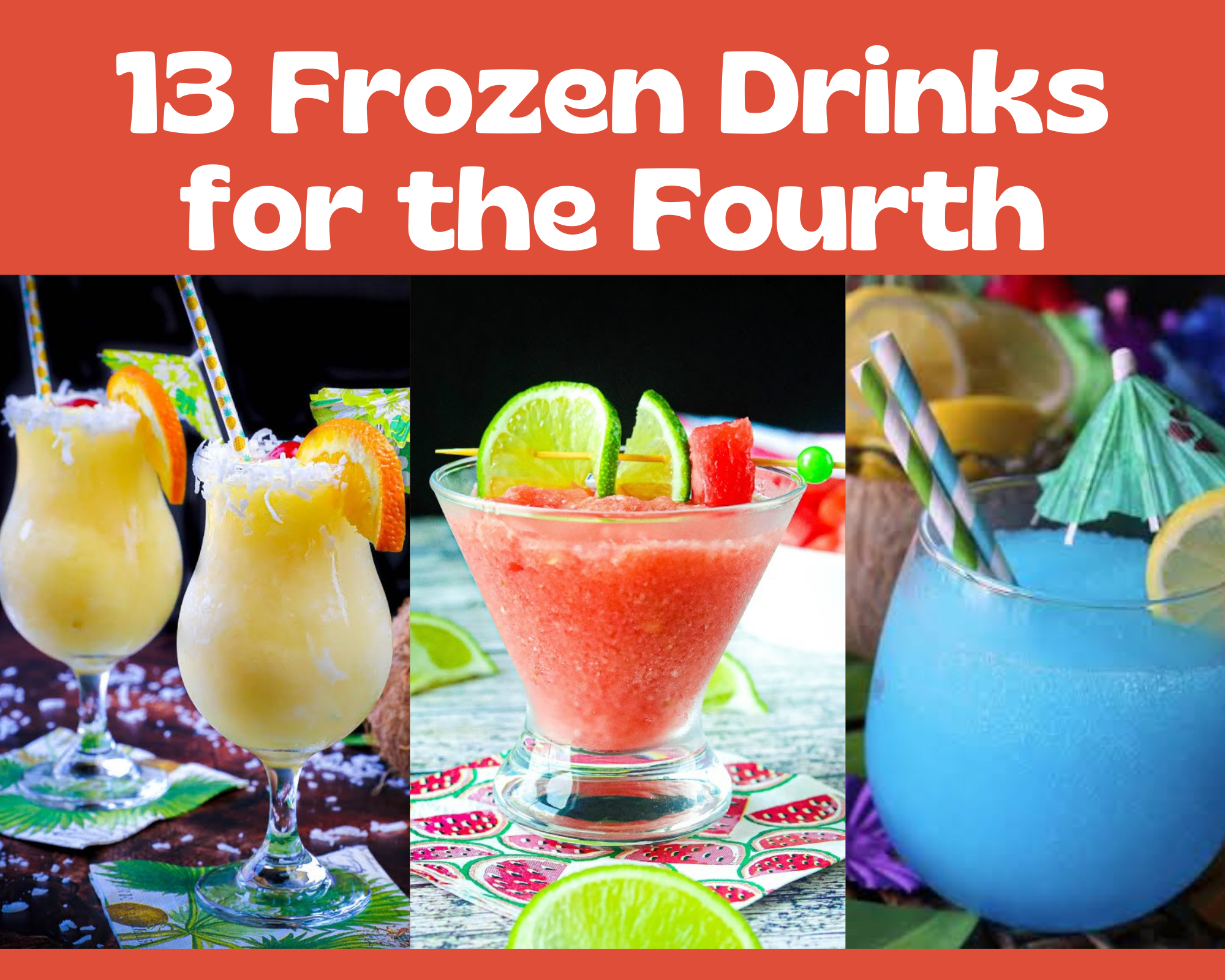 frozen cocktails for the 4th of july