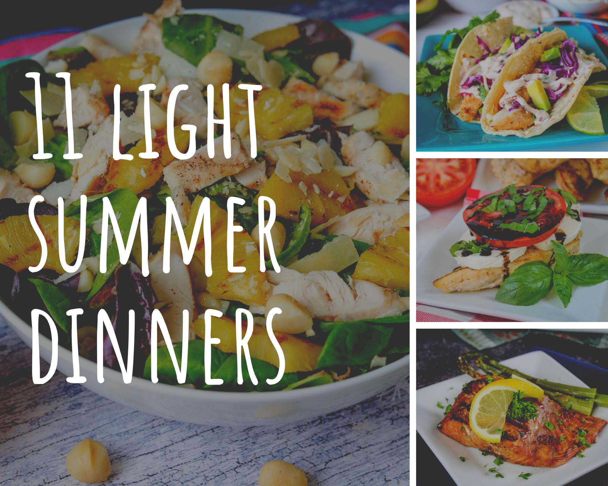 light summer dinner ideas