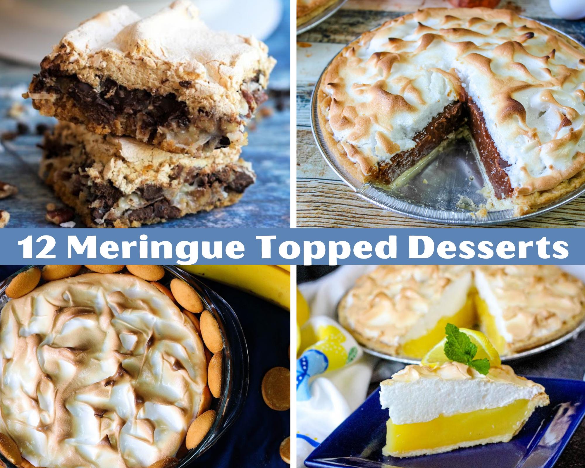 meringue topped desserts
