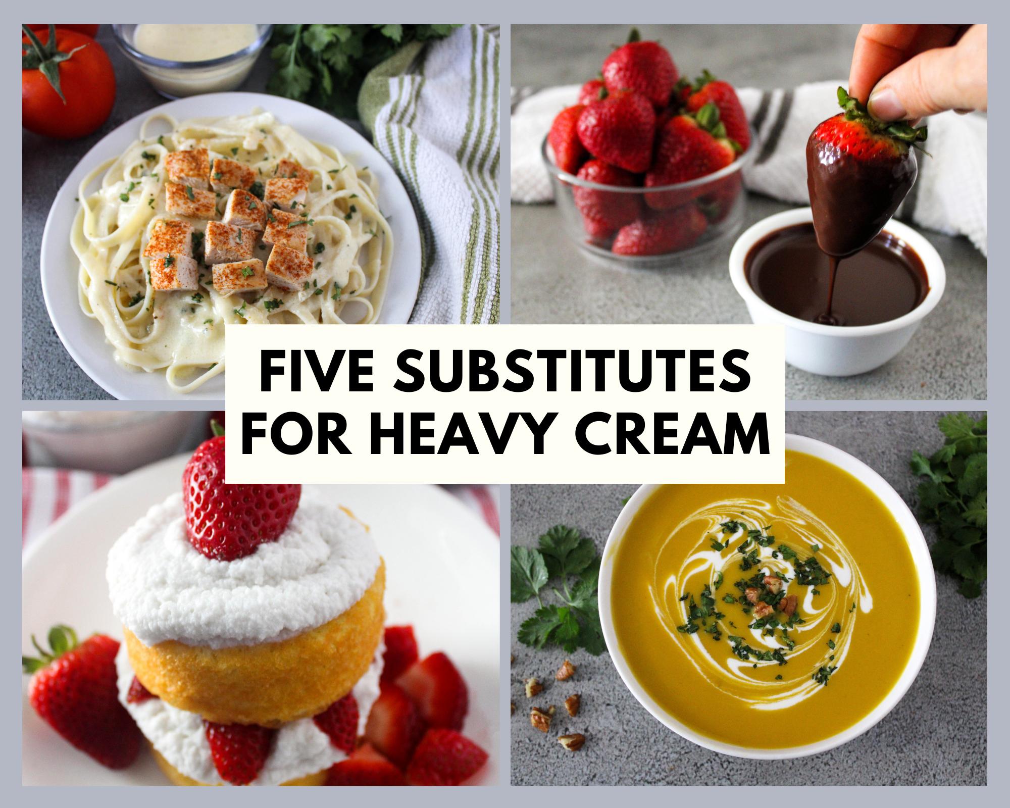 substitutes for heavy cream