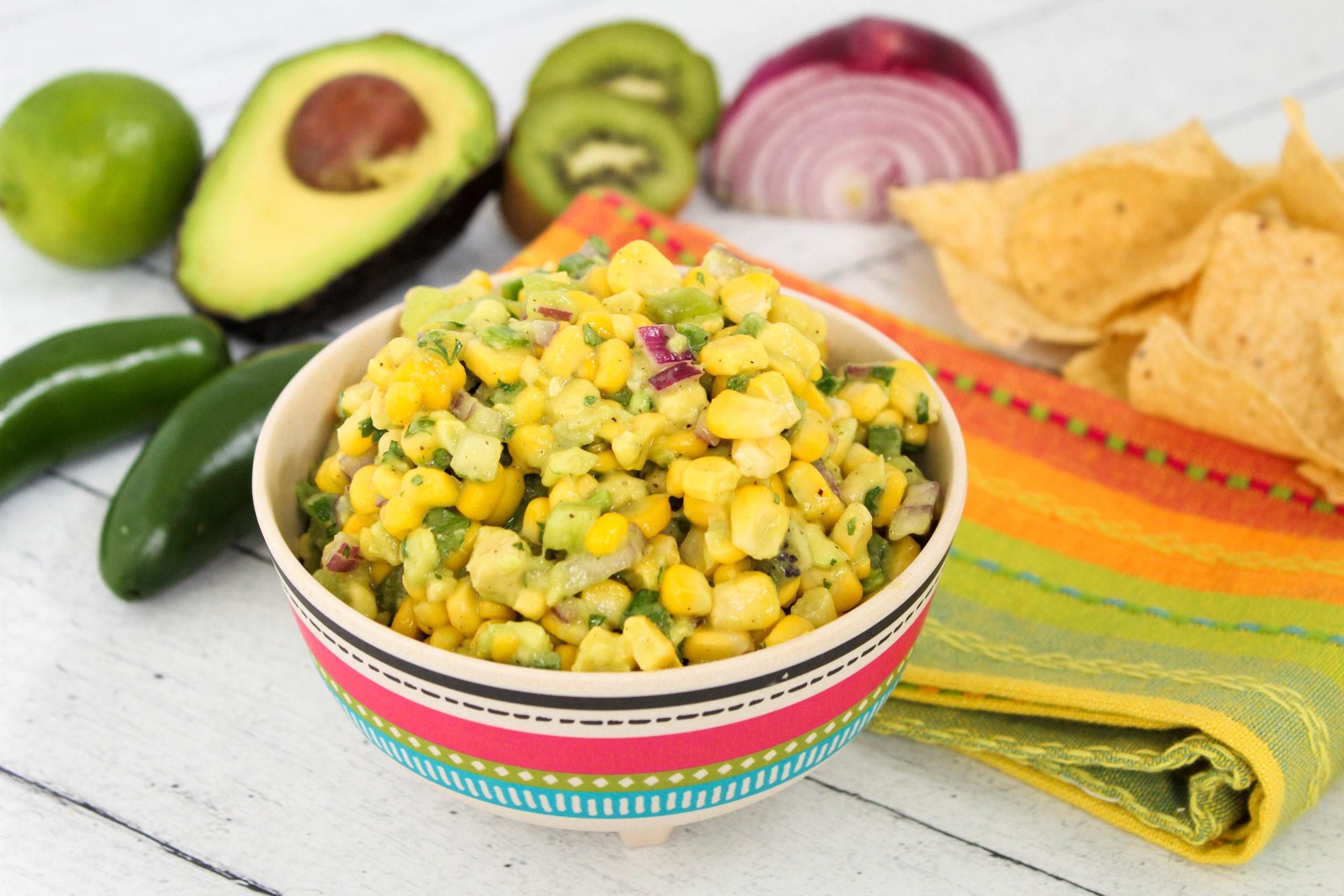Bowl of Fresh Corn Salsa