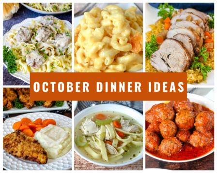 October Dinner Ideas