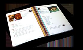 open printed cookbook